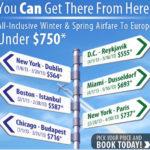 Авиабилеты из США в Европу