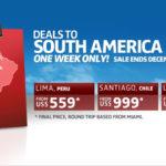 Авиабилеты из США в Южную Америку от 559 долларов